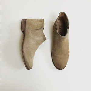 Splendid Tan Suede Ankle Booties